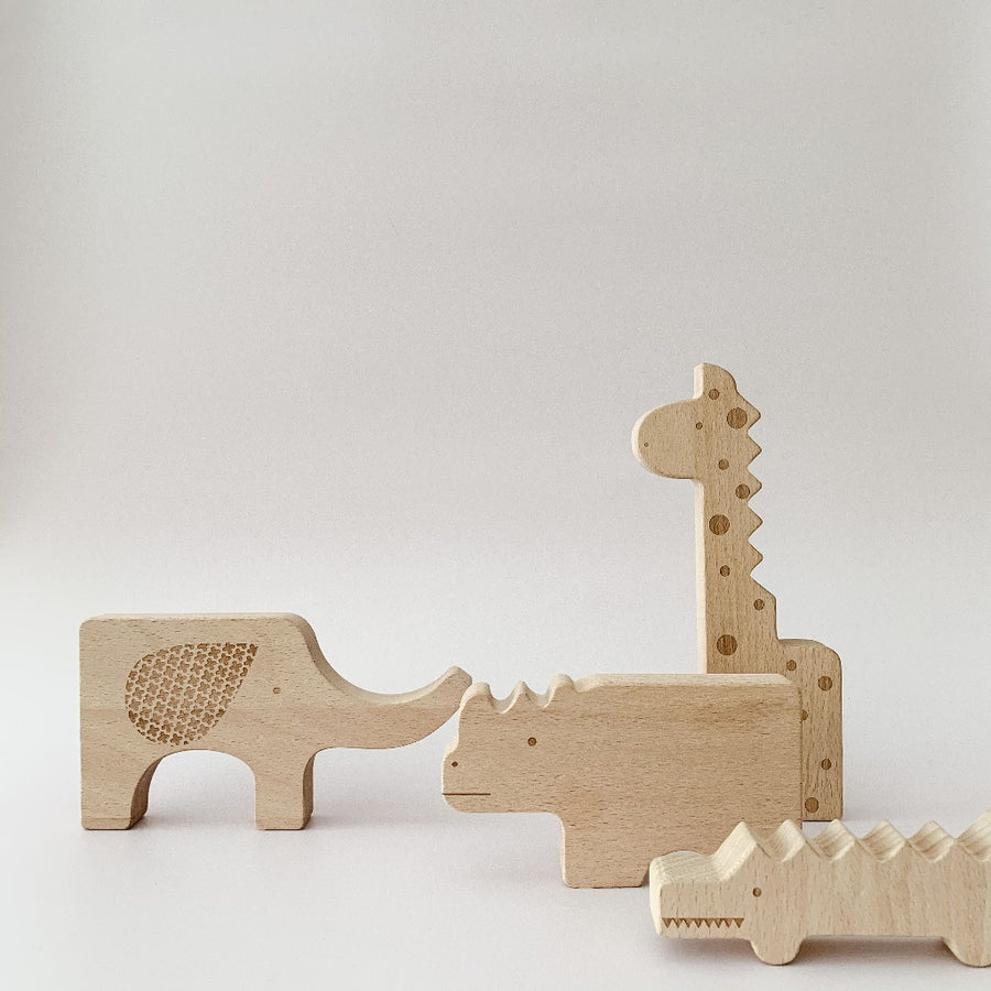 Safari Wooden Animal Puzzle-Petit Collage-Shop at Nook