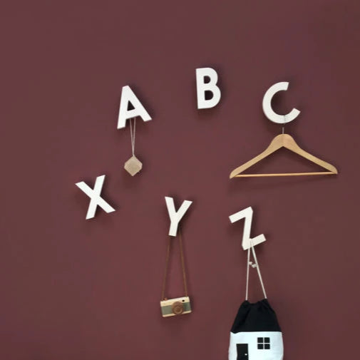 Alphabet Soup Wall Hooks - ABC (Natural)-Rock & Pebble-Shop at Nook