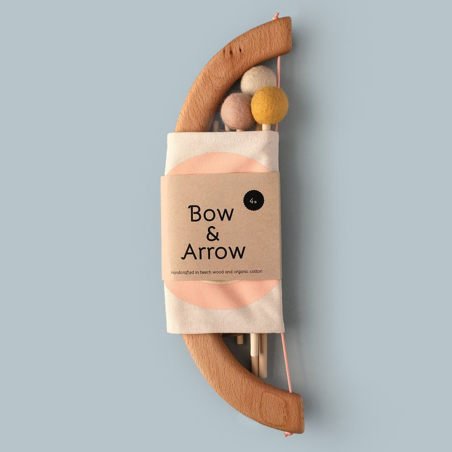 Bow & Arrow Set-toy-Tangerine Toys-Peach-Shop at Nook
