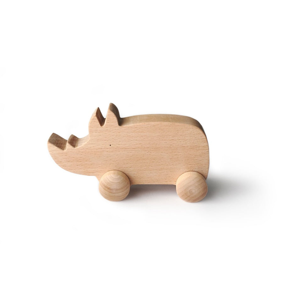 Wooden Rhino-toy-Tangerine Toys-Shop at Nook