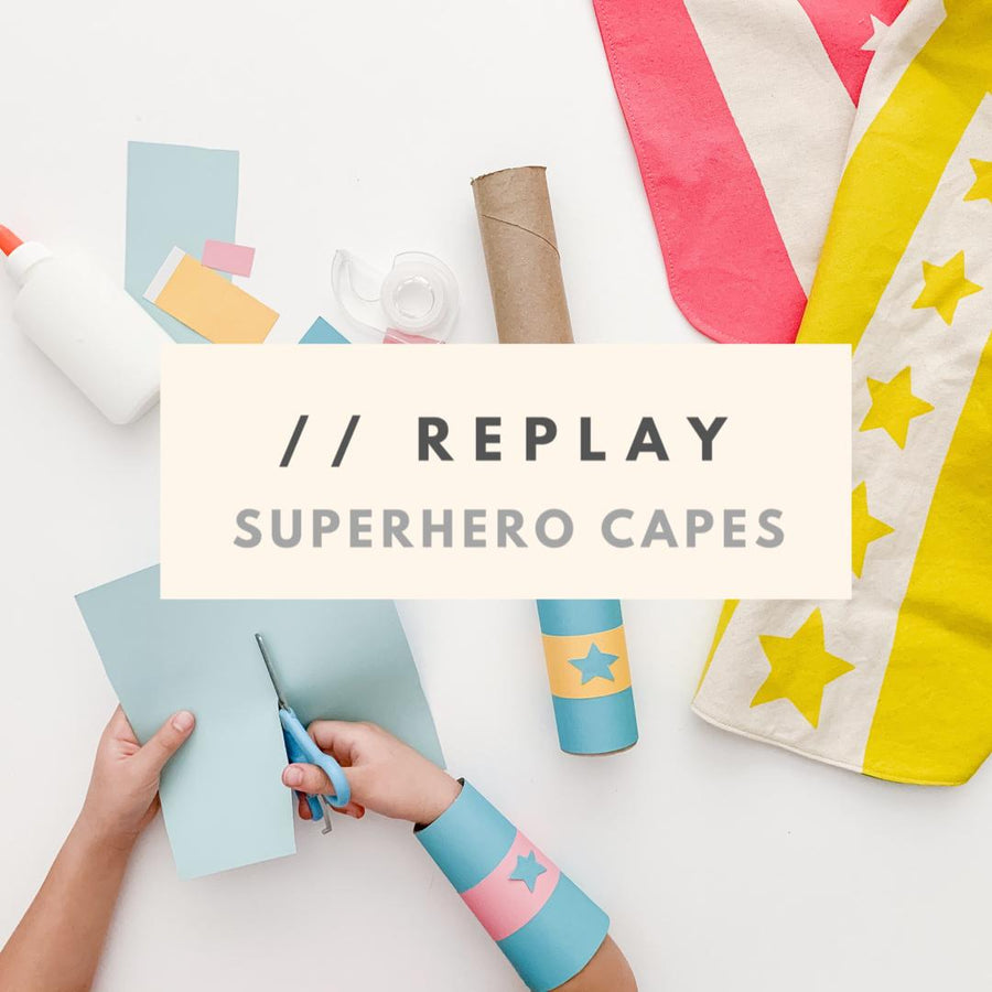 Nook Replay Superhero Capes Activities