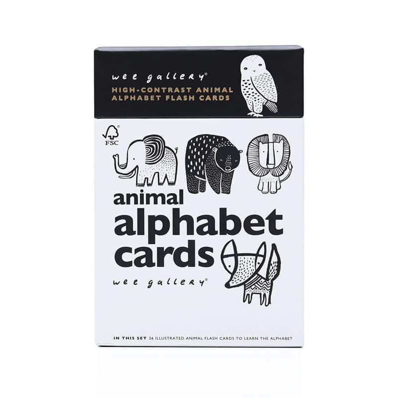 Animal Alphabet Cards-Wee Gallery-Shop at Nook