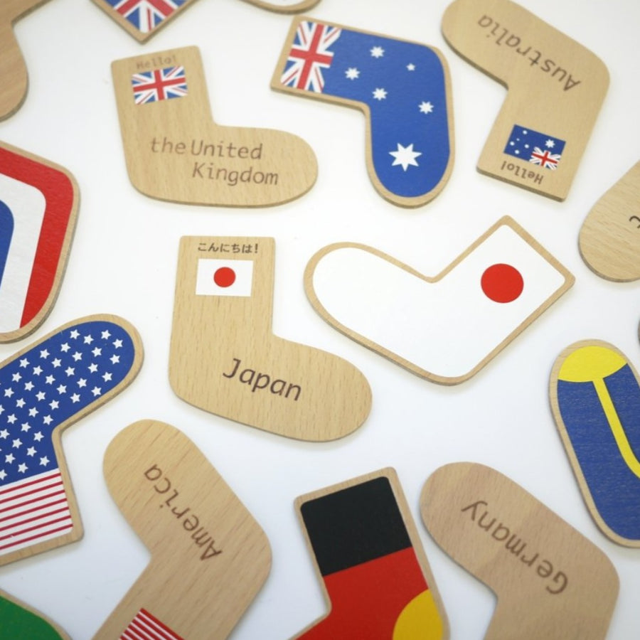 World Flags Wooden Memory Game-kiko and gg-Shop at Nook