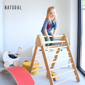 RENTAL Wiwiurka Pikler Triangle with Rock Climbing Board-Wiwiurka-Shop at Nook