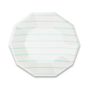 Frenchie Striped Large Plates - Pack of 8-Daydream Society-Shop at Nook