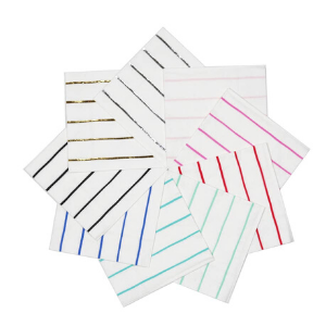 Frenchie Striped Petite Napkins - Pack of 16-Daydream Society-Shop at Nook