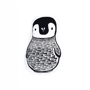 Penguin Throw Pillow-Wee Gallery-Shop at Nook