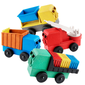 Educational 4 Pack of Trucks-Luke's Toy Factory-Shop at Nook