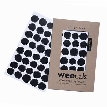 Weecal Wall Decals - Black Dots-Wee Gallery-Shop at Nook