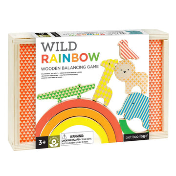 Wild Rainbow Wooden Balancing Game-Petit Collage-Shop at Nook