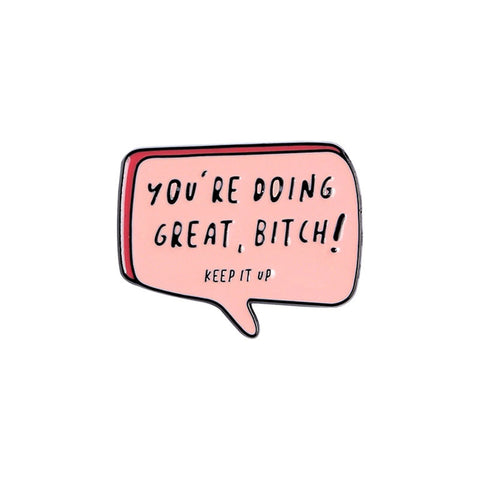 You're doing great...