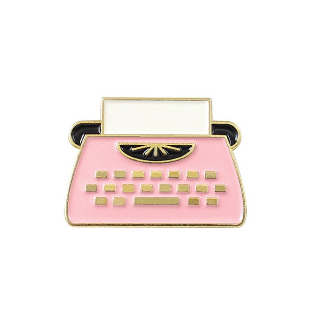 Writer Pink Typewriter