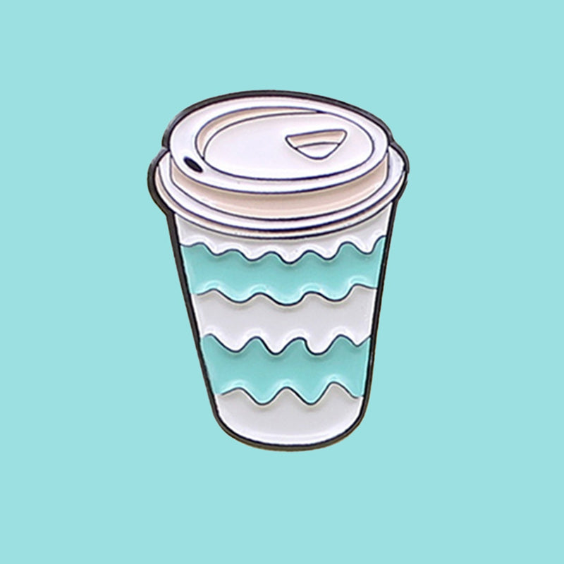 Coffee Cup Wavy Pattern