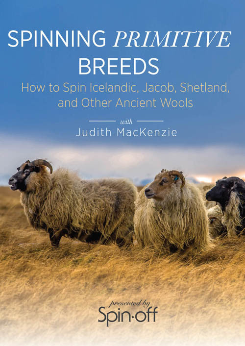 Spinning Primitive Breeds: How to Spin Icelandic, Jacob, Shetland, and Other Ancient Wools Video DownloadImage
