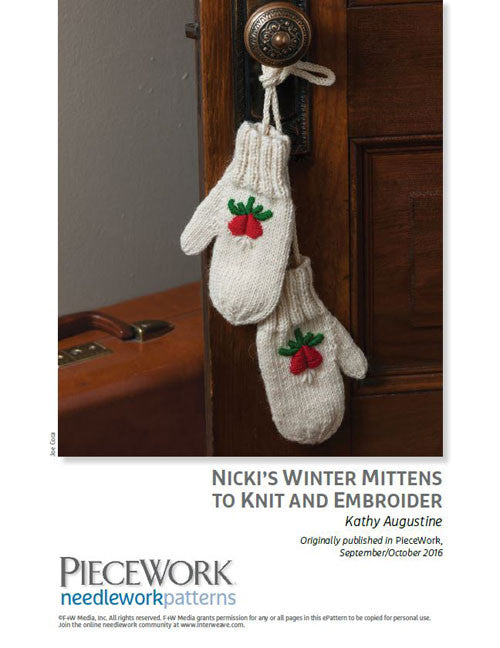 Nicki's Winter Mittens to Knit and Embroider Knitting Pattern DownloadImage