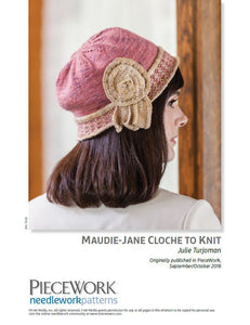 Maudie-Jane Cloche to Knit Knitting Pattern DownloadImage