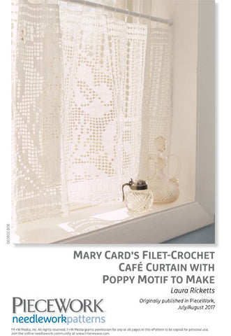 Filet Crochet Cafe Curtains Inspired by Mary Card DesignsImage