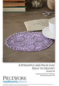 A Pineapple and Palm Leaf Doily to Crochet Pattern DownloadImage