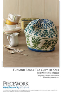 Fun and Fancy Tea Cozy to Knit Pattern DownloadImage