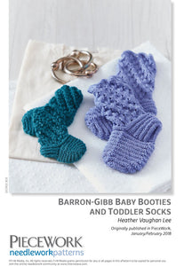 Barron-Gibb Baby Booties and Toddler Socks Pattern DownloadImage