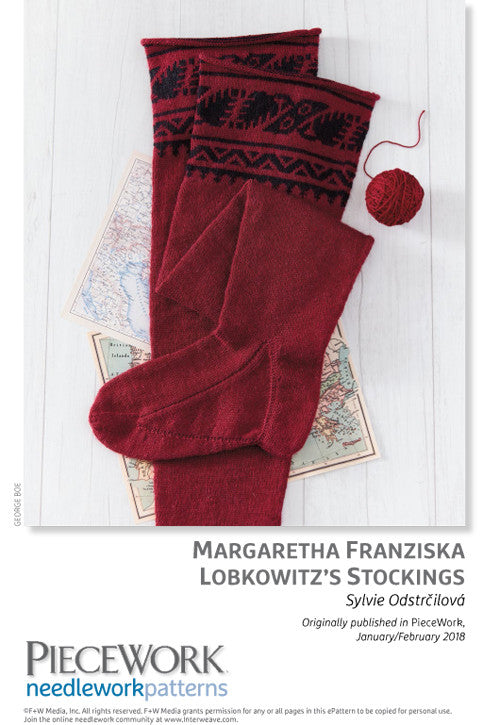 Margaretha Franziska Lobkowitz's Stockings Pattern DownloadImage