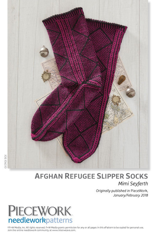 Afghan Refugee Slipper Socks Pattern DownloadImage