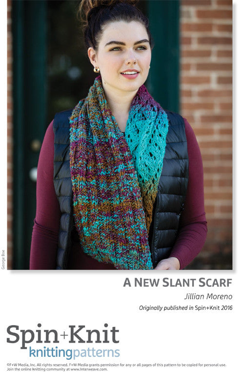 A New Slant Scarf Spinning Knitting Pattern DownloadImage