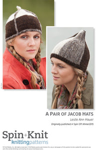 A Pair of Jacob Hats Spinning Knitting Pattern DownloadImage