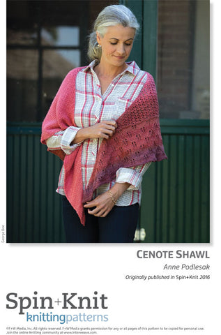 Cenote Shawl Spinning Knitting Pattern DownloadImage