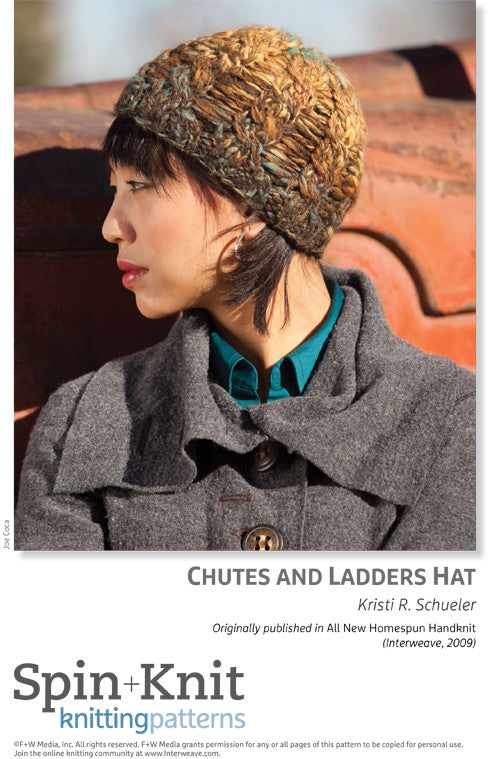 Chutes and Ladders Hat Spinning Knitting Pattern DownloadImage