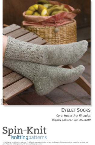 Eyelet Socks Spinning Knitting Pattern DownloadImage