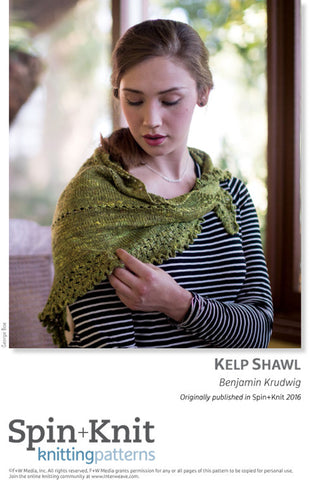 Kelp Shawl Spinning Knitting Pattern DownloadImage