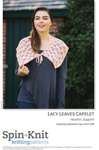 Lace Leaves Capelet Spinning Knitting Pattern DownloadImage