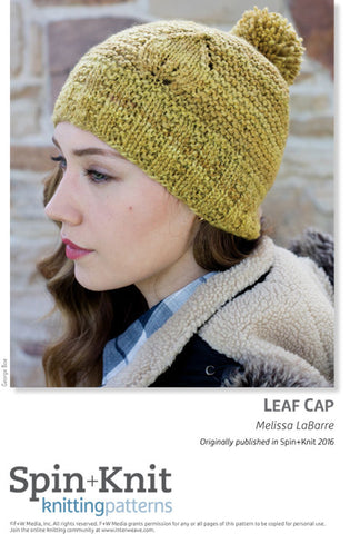 Leaf Cap Spinning Knitting Pattern DownloadImage