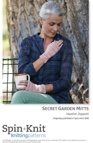 Secret Garden Mitts Spinning Knitting Pattern DownloadImage