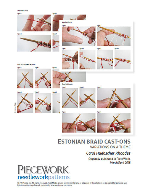 Estonian Braid Cast-Ons: Variations on a Theme Pattern DownloadImage