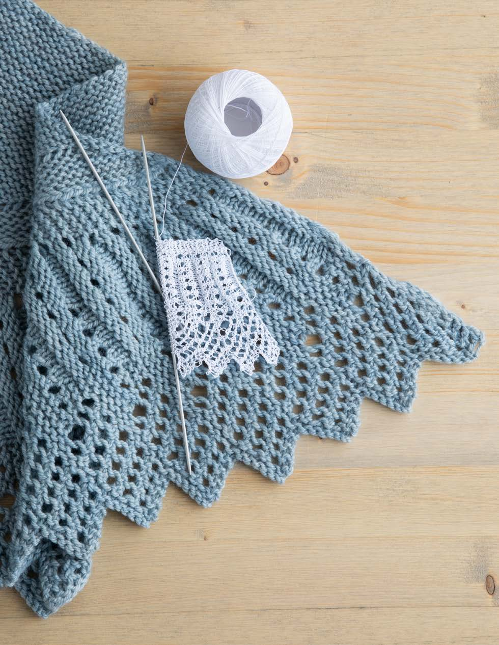 Fluted Lace Shawl Knitting Pattern