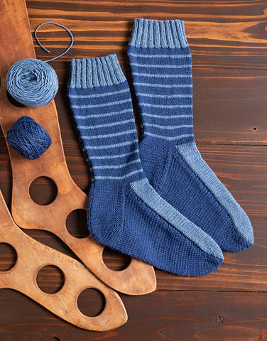 Weldon's-Inspired Re-Footed Socks Knitting Pattern