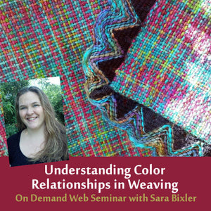 Understanding Color Relationships in Weaving: How to anticipate color interactions between warp and weft On Demand Web SeminarImage