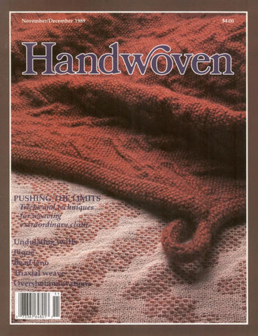 Handwoven, November/December 1989 Digital EditionImage