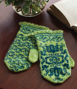 Fritillary Mittens Knitting Pattern DownloadImage