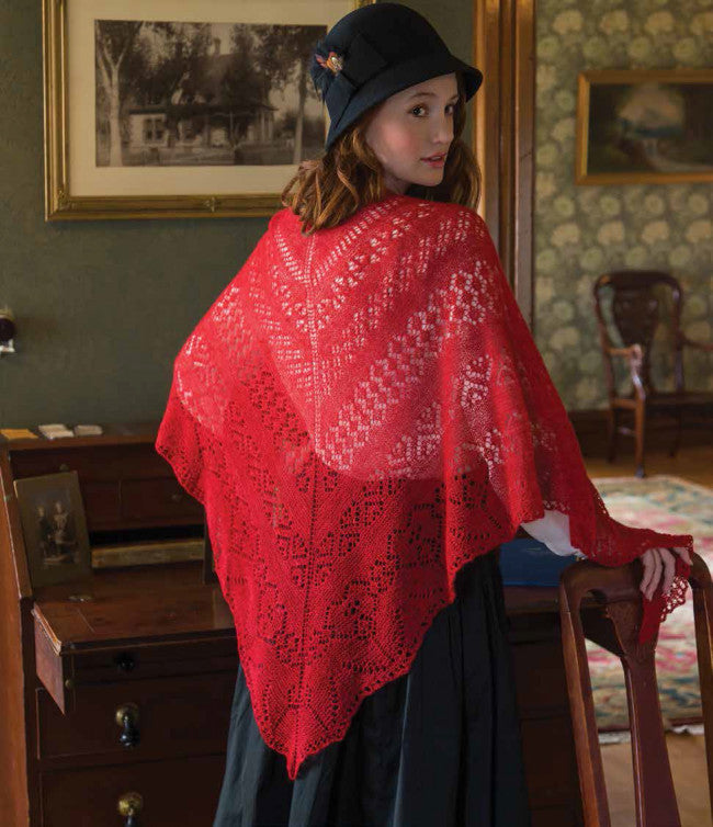 Fire and Rose Shawl Knitting Pattern DownloadImage