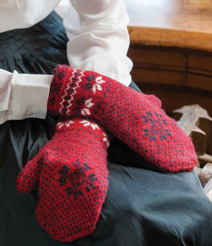 Swedish Jamtland Mittens Knitting Pattern DownloadImage