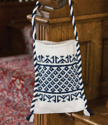 Islamic-ed Shoulder Bag in Indigo and White Knitting Pattern DownloadImage