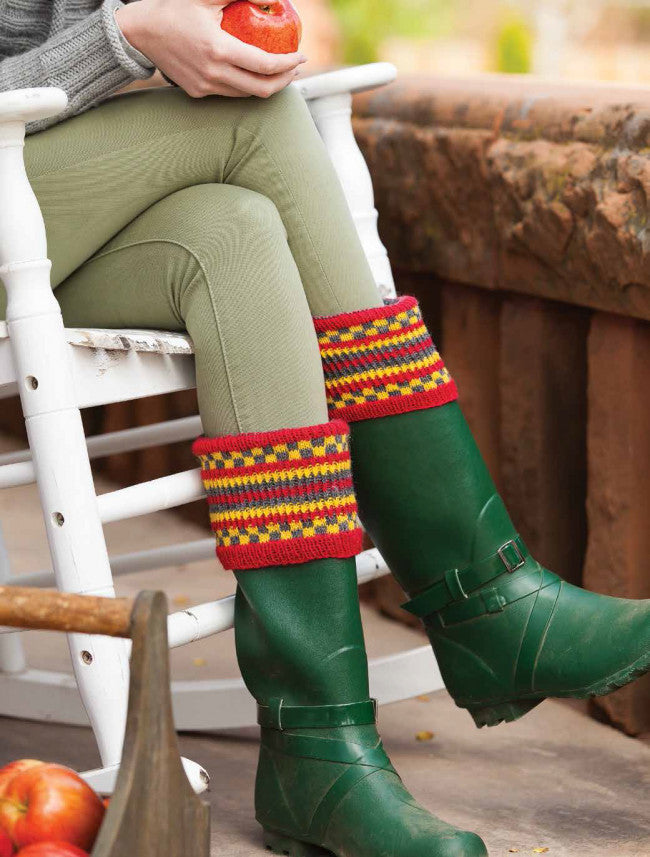 Wellington Boot Liners Knitting Pattern DownloadImage