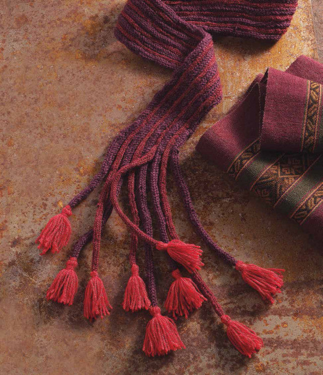 A Peruvian Tasseled Scarf to Knit Knitting Pattern DownloadImage