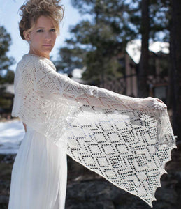 White Queen Stole Knitting Pattern DownloadImage