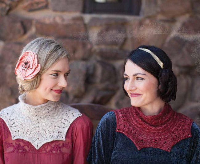 Snowdrop and Rose Red Cowl Knitting Pattern DownloadImage