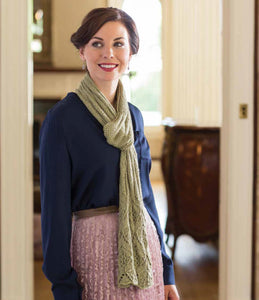 Lotus Blossom Scarf Knitting Pattern DownloadImage
