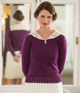 Maids' & Maidens' Lace Blouse Knitting Pattern DownloadImage